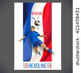 euro 2016 france football... | Shutterstock .eps vector #421458451