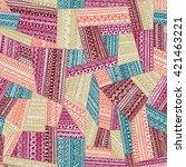 seamless tribal pattern....   Shutterstock .eps vector #421463221