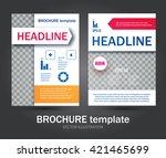 brochure  booklet   flyer... | Shutterstock .eps vector #421465699