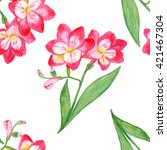 seamless pattern with pink... | Shutterstock . vector #421467304