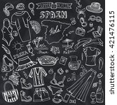 fashion illustration.spain... | Shutterstock .eps vector #421476115