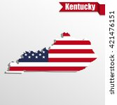 kentucky  state map with us... | Shutterstock .eps vector #421476151