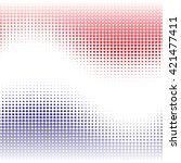 red  and blue abstract... | Shutterstock .eps vector #421477411