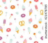 candy bar sweets and pastry... | Shutterstock .eps vector #421478785