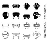 set of icons representing...   Shutterstock .eps vector #421483621