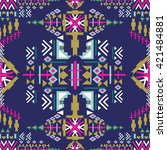 colorful navajo seamless... | Shutterstock .eps vector #421484881
