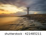 lighthouse in swinoujscie ... | Shutterstock . vector #421485211