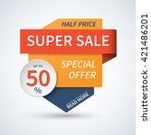 super sale banner. special... | Shutterstock .eps vector #421486201