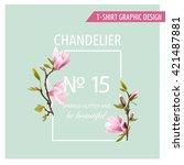 floral graphic design. magnolia ...   Shutterstock .eps vector #421487881