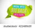 big sale banner. vector... | Shutterstock .eps vector #421489639