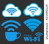 internet cafe free wifi icons...