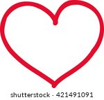 handdrawn heart icon | Shutterstock .eps vector #421491091
