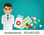 doctor occupation character... | Shutterstock .eps vector #421492105