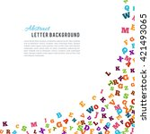abstract colorful alphabet...   Shutterstock .eps vector #421493065