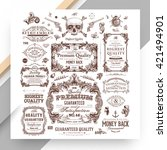 set of vintage decorations... | Shutterstock .eps vector #421494901