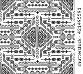 vector tribal mexican vintage... | Shutterstock .eps vector #421495591