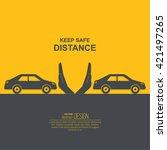 hands up the distances... | Shutterstock .eps vector #421497265