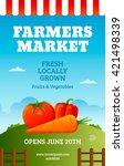 farmers market poster template... | Shutterstock .eps vector #421498339