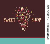 logo template for confectionery ... | Shutterstock .eps vector #421500139