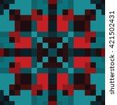 abstract seamless pixel pattern.... | Shutterstock .eps vector #421502431