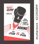 boxing championship poster... | Shutterstock .eps vector #421502899