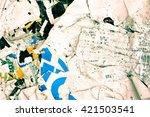 creased crumpled paper texture... | Shutterstock . vector #421503541
