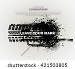 grunge trace of tire. template... | Shutterstock .eps vector #421503805