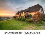 Beautiful Cottages At Sunset O...