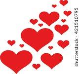 design of hearts | Shutterstock .eps vector #421510795