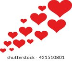 flying hearts | Shutterstock .eps vector #421510801
