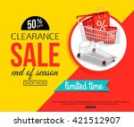 clearance sale banner for shop  ... | Shutterstock .eps vector #421512907