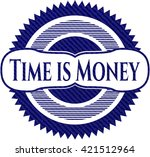 time is money emblem with jean... | Shutterstock .eps vector #421512964