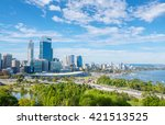 Skyline Of Perth With City...