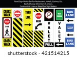 valet and parking signs vector... | Shutterstock .eps vector #421514215