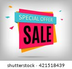 vector sale banner. beautiful... | Shutterstock .eps vector #421518439