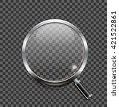 realistic magnifying glass icon ... | Shutterstock .eps vector #421522861