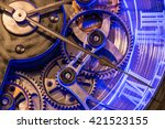 close up view gear of old... | Shutterstock . vector #421523155