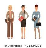 business women set. successful... | Shutterstock .eps vector #421524271