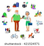 vector detailed character... | Shutterstock .eps vector #421524571