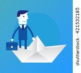 leader. business concept... | Shutterstock .eps vector #421532185