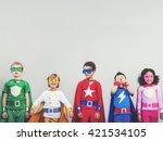 superhero kids aspiration... | Shutterstock . vector #421534105
