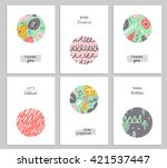 trendy creative hand drawn... | Shutterstock .eps vector #421537447