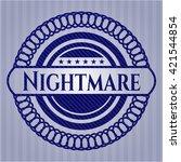 nightmare emblem with jean... | Shutterstock .eps vector #421544854