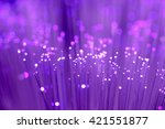 close up on fiber optics  ... | Shutterstock . vector #421551877