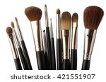 woman's make up brush isolated... | Shutterstock . vector #421551907