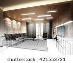 sketch design of living room ... | Shutterstock . vector #421553731