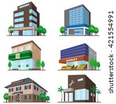 building   solid figure | Shutterstock .eps vector #421554991