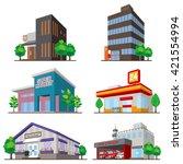 building   solid figure | Shutterstock .eps vector #421554994