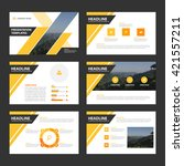 yelow black vector presentation ... | Shutterstock .eps vector #421557211