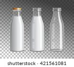transparent glass bottles.... | Shutterstock .eps vector #421561081